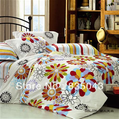 Ikea Bedding Sets Free Ship Ymj Textile Ikea Flower 4pcs Bedding Set 100 Cotton Bed In A Bag Beautifully Jpg