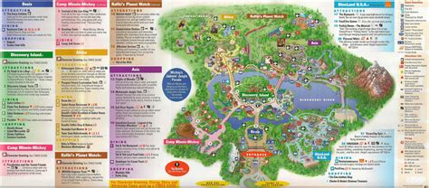 printable animal kingdom map 2015 discovery island in disney world guide map see map details