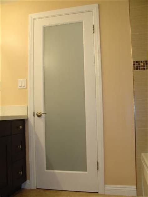 bathroom entry doors with frosted glass