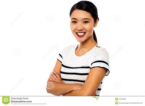 free model stock casual girl by arty monster on deviantart pretty asian girl posing sweetly with confidence stock