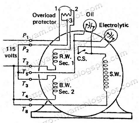 115 230 volt single ph motor wiring diagram leeson 115 230