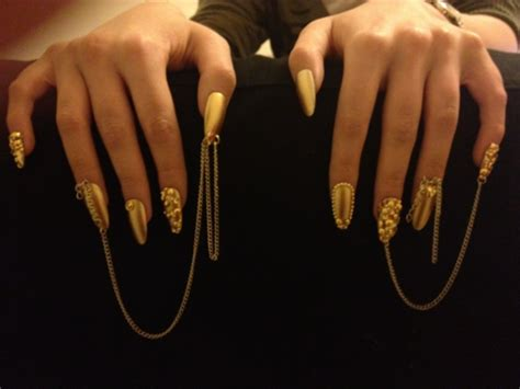 tumblr nails with white gold rings acrylic nails i love doing them different style