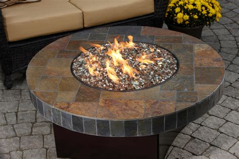 Gas Outdoor Firepit Diy Gas Pit Table Pits Pinterest Gas Pits Mosaic Stones And Table