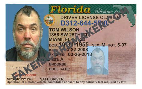 florida drivers license fake id virtual fake id card maker