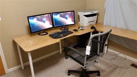 budget computer desk low cost computer desk 8 steps with pictures