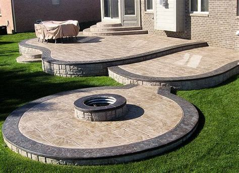 patio concrete designs beautiful sted concrete patio ideas