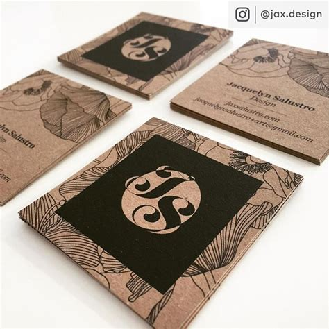 Brown Kraft Paper Business Cards