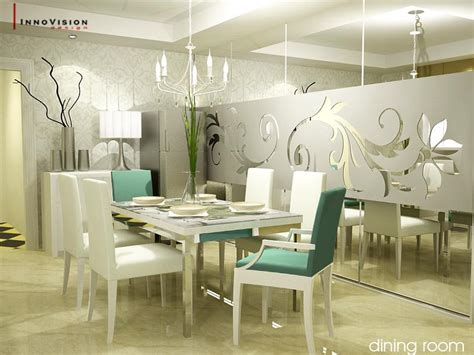dining room wall designs white themed dining room ideas