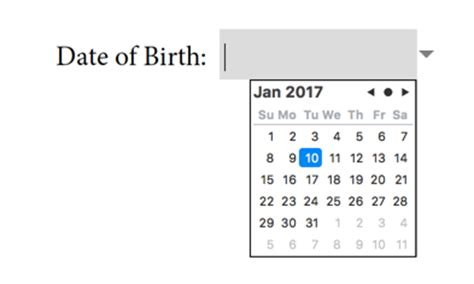 javascript format date add days new form field types in acrobat dc image field and date