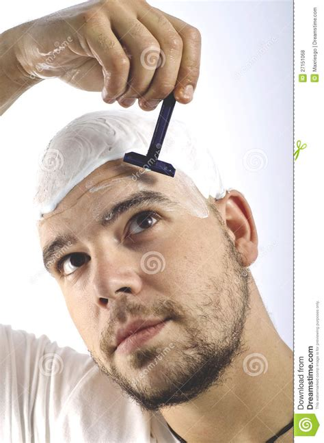 Should Men Shave Their Heads Bald | if you are a bald you should shave your head stock photo