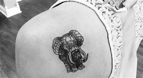 small elephant tattoo on shoulder left back shoulder small elephant tattoo