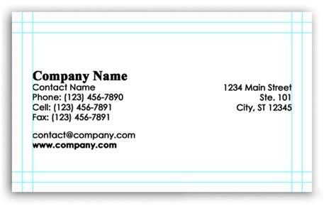 How To Set Up A Business Card Template In Indesign by Photoshop Business Card Templates Free Photoshop