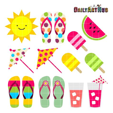 clipart summer free summer things clip set daily hub summer