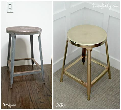 two toned painted stool