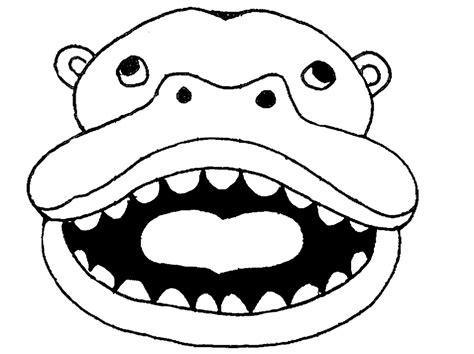 printable hippo mask hippo mask printable eden escape