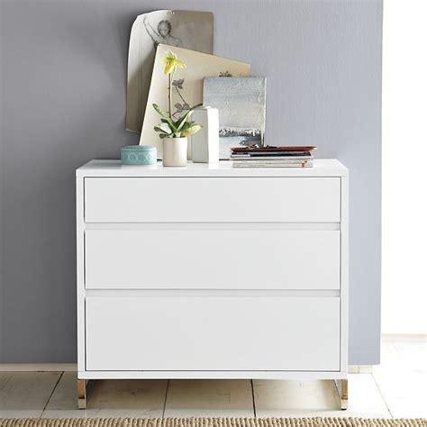 west elm modern white dresser hudson 3 drawer dresser modern by west elm
