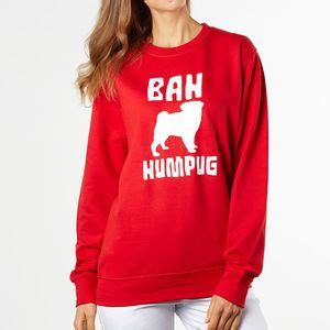 bah humbug pug sweater jumpers and cardigans for notonthehighstreet