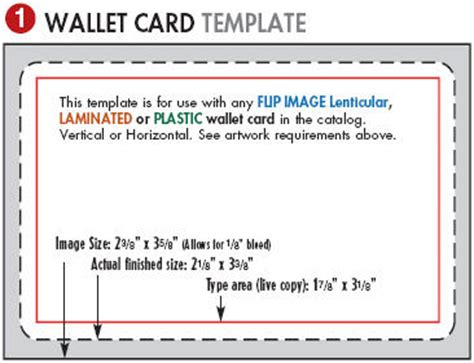 Wallet Card Template lenticular printing templates