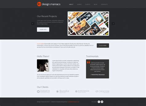 design studio templates free design studio html theme