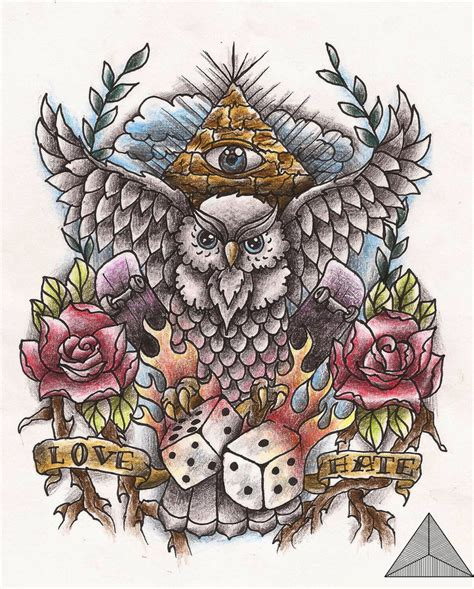new old school tattoo designs owl old school tattoo design by sarahannymermans on deviantart