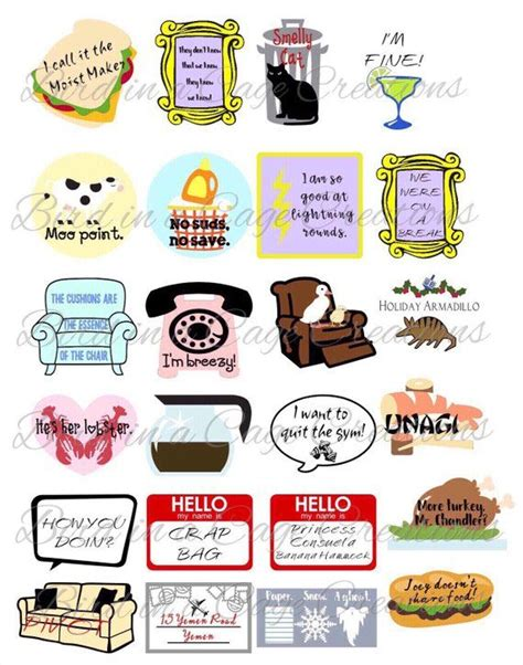 friends stickers friends theme party decorations friends party favors stickers cute stickers