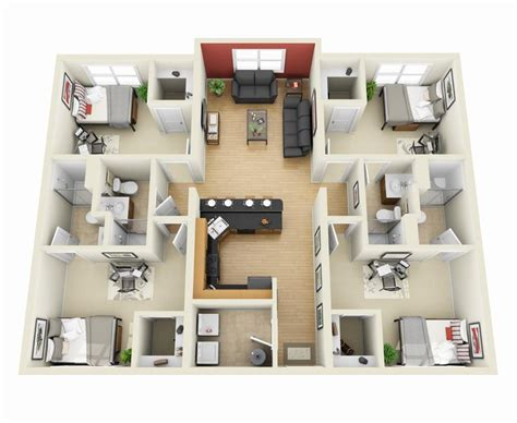 q1 4 bedroom apartment 50 four 4 bedroom apartment house plans bedroom