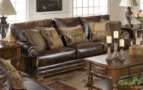 Antique Living Room Furniture Sets Antique Leather Sofa Traditional Living Room Furniture Set