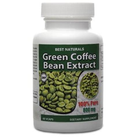 Green Coffee Bean Detox 800 by Best Naturals 100 Green Coffee Bean Extract 800 Mg