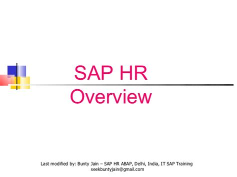 Sap Courses For Mba Hr by Sap Hr Overview 58 Slides