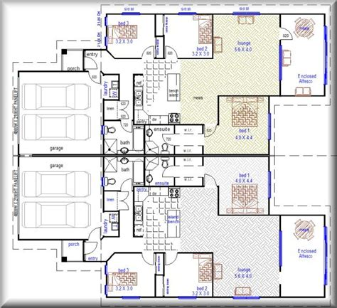 get home blueprints australian plan no 376 6 bedroom duplex design duplex