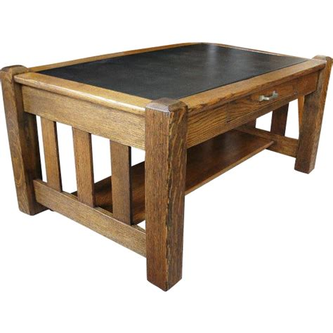 Mission Oak Table With Drawer Nice For Coffee Table From Mission Oak Coffee Table