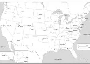 us capitals map blank printable map of united states with capitals and