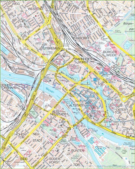 germany bremen map bremen city centre map