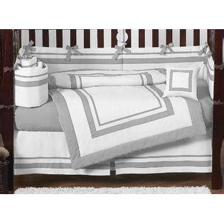 Hotel Crib Bedding Sweet Jojo Designs Hotel White And Gray Collection 9pc Crib Bedding Set Baby Baby Bedding