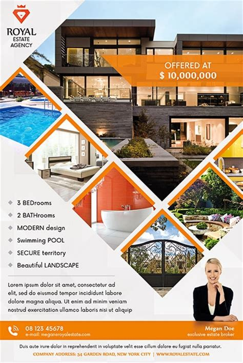 free real estate templates flyers pro real estate flyer template dtp