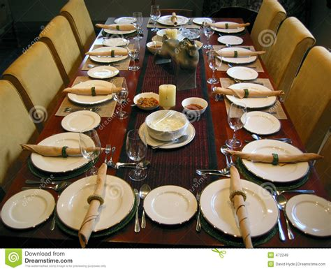 banquet table setting royalty free stock images image