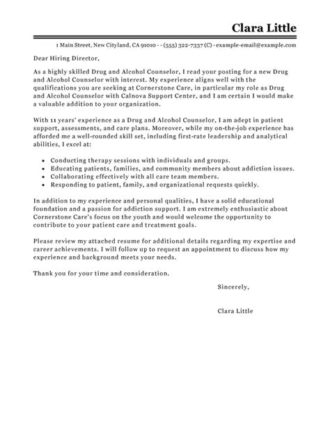 up letter to addiction best and counselor cover letter exles