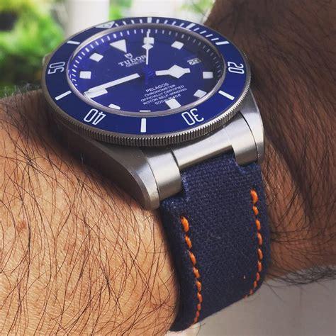 Gunny Straps Petroleum Blue For Panerai Rolextag Heuer strapfreak gunny straps panerai audemars piguet rolex sevenfriday