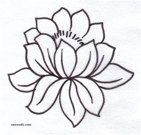 tattoo lotus outline 33 lotus tattoo stencils designs