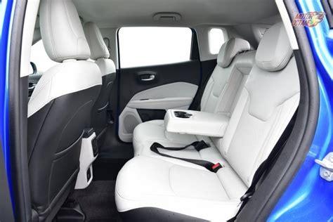jeep compass rear interior 2017 jeep compass india price petrol automatic
