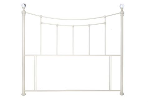 single metal headboard limelight metis 3ft single metallic ivory metal headboard