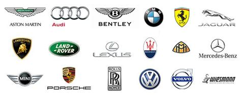 luxury car logos and names luxury rental car fleet prestige car rentals auto europe
