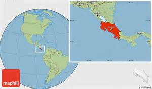 Costa Rica Map World by Savanna Style Location Map Of Costa Rica