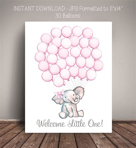 Alternatives To Baby Shower by Printable Instant Watercolor Elephant Baby