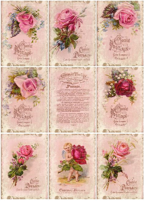 free printable decoupage images shabby chic pattern on vintage roses vintage