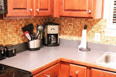 how to make a backsplash in your kitchen diy wine cork backsplash