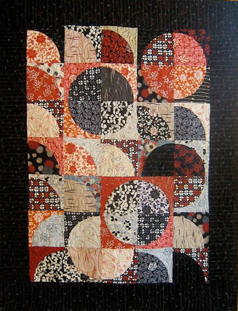 patchwork quilt black and japanese drunkard s path