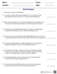 ratios amd rate word problems worksheets math 5 6