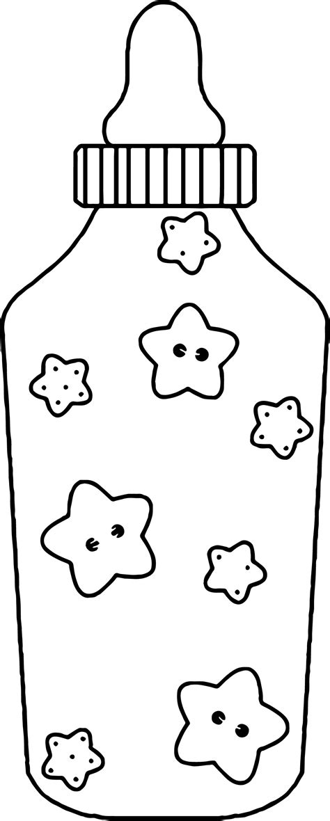 coloring page baby bottle baby feeding bottle coloring page wecoloringpage