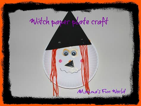 Creative Things With Paper - momma s world witch paper plate craft
